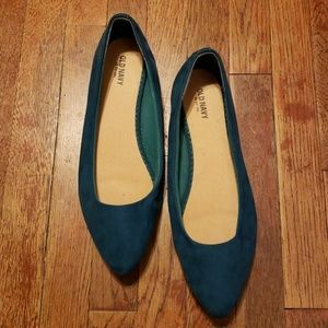 Women's green flats by Old Navy